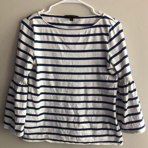 Banana Republic Striped Bell Sleeve Top Size XS